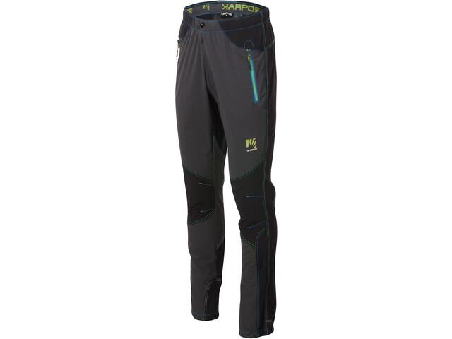 Karpos Rock Pantalones Hombre, dark grey/black/apple green/in